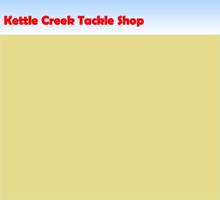Kettle Creek Tackle Shop